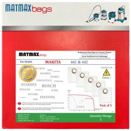 5x Dust Bags for Makita 441...