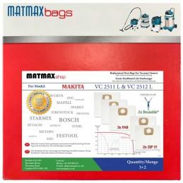 Dust Bags For Makita: VC 2511 L & VC 2512 L