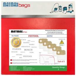 5x Dust Bags for Festool...