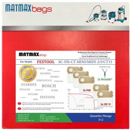 Bags for: Festool SC-FIS-CT MINI/MIDI-2/5/CT15