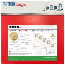 Dust Bags for: Festool SC-FIS-CT MINI/MIDI-2/5/CT15