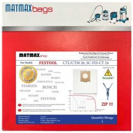 Reusable* Bag for: Festool CTL/CTM 26, SC-FIS-CT 24