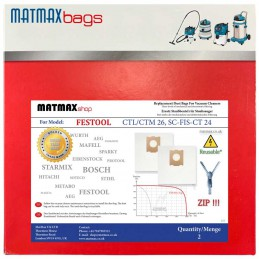 Reusable* Bags for: Festool CTL/CTM 26, SC-FIS-CT 24