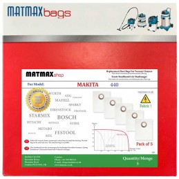 5x Dust Bags for Makita 440